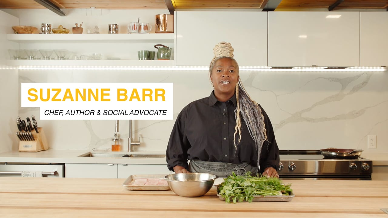 Chef Suzanne Barr joined the Voices of the Food System livestream to share about her culinary jounery and a delicious recipe